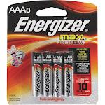 Energize Max Alkaline Batteries, AAA - 8 count