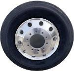 24.5 x 8.25 Truck/Bus Wheel Rims Steer Tires Combination (x2)