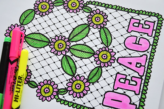 LOVE & PEACE COLORING PAGES - laura miller: artist. maker. nurse.