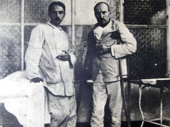 Mussolini in ospedale a Milano