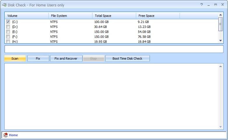 Disk Check 1.2 - Memperbaiki kesalahan disk dan memulihkan bad sector