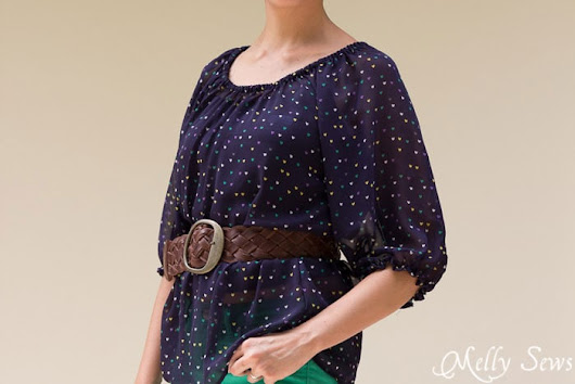 Sew a Peasant Top Pattern for Women - Melly Sews