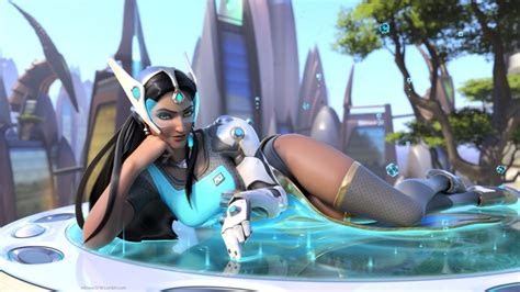 wallpaper symmetra overwatch artwork  games