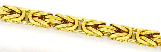 Foto 2, Königskette Goldkette massiv 14K Gelbgold Karabiner Neu, K2245