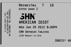 American Idiot - Ticket