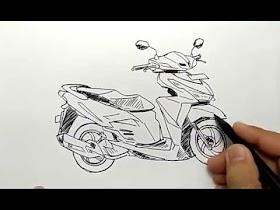 Gambar Sketsa Motor Vario 150