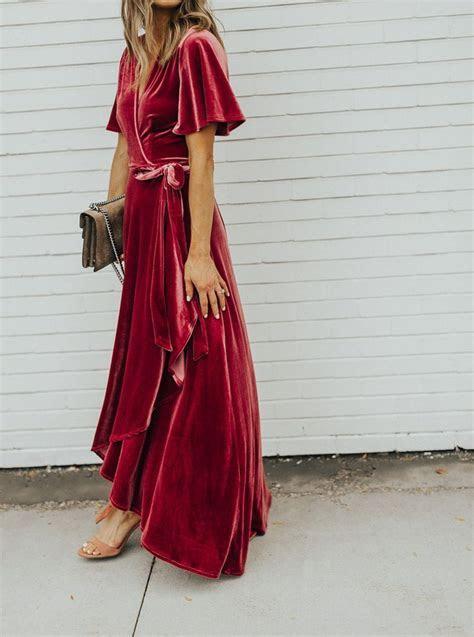 velvet wrap dress   would be a perfect bridesmaid dress