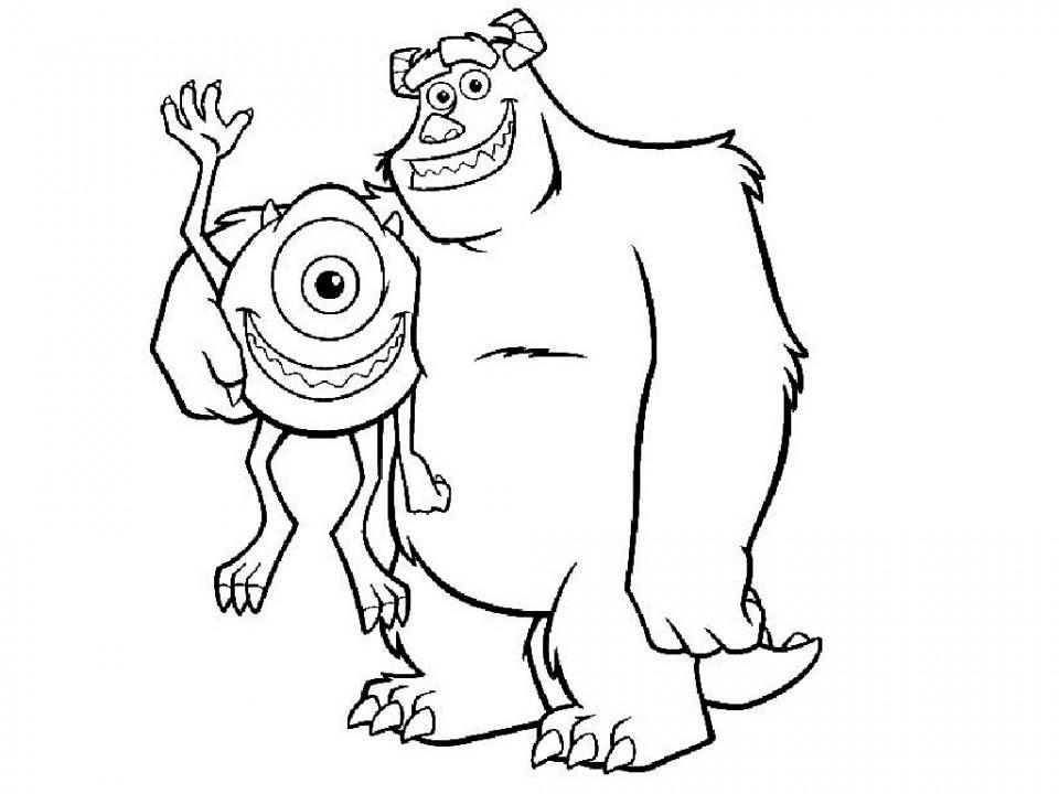 Monster Inc Y Los Dos Grandes Amigos De Monstruopolis