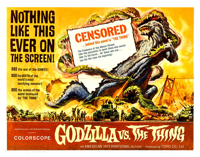 Reynold Brown - Godzilla vs. the Thing (American International, 1964) half sheet