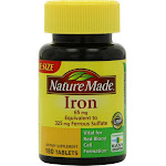 Nature Made Iron, 65 mg, Tablets - 180 tablets