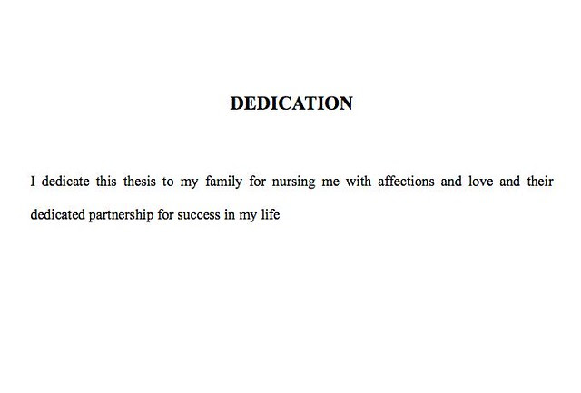 Thesis Dedication Sample - Thesis Title Ideas For College