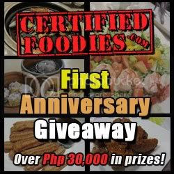 Join CertifiedFoodies.com's First Anniversary Giveaway