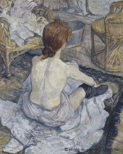 Rousse (La toilette), Henri de Toulouse-Lautrec,  1889