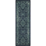 Maples Rugs Jenny Blue Area Rug; Runner 2' x 6'