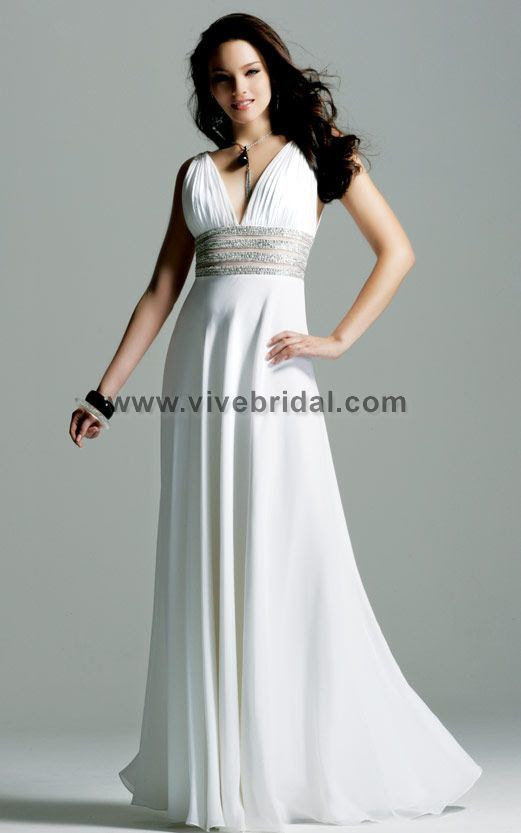 White evening dresses 2012