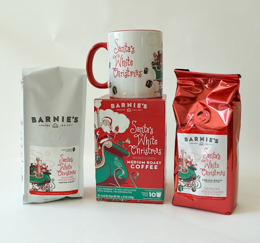 Get Into the Holiday Spirit with Barnie's Santa's White Christmas Coffee! #SantaWhiteChristmas #IC - The Rebel Chick