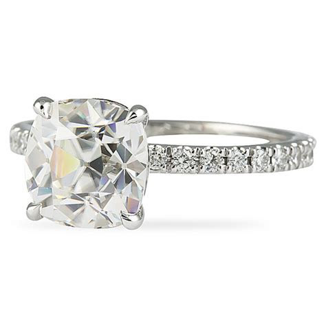 Lepozzi Antique Moissanite Cushion Cut Engagement Ring