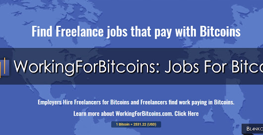 WorkingForBitcoins: Jobs For Bitcoins