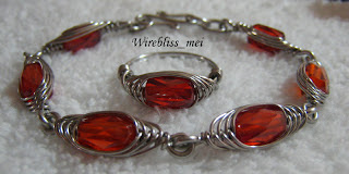 Wire Wrapped HBW Bracelet & Ring