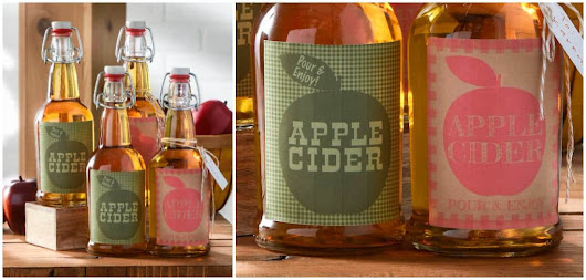Free fall printables: apple cider gift bottles - Mod Podge Rocks