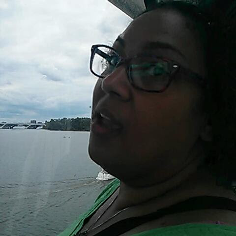 on the Ferris wheel at the national harbor with @sherrysjoy, yay!
