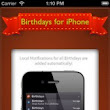 Birthdays for iPhone: They Say it's Your Birthday (So Happy Birthday To Ya) « The iPhone App Review : iPhone, iPod Touch and iPad App Reviews