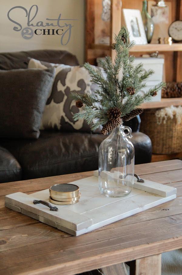 DIY $8 Wood Tray!!! - Shanty 2 Chic