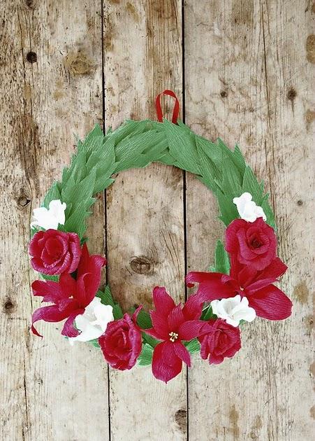 Crepe Paper Christmas Decorations