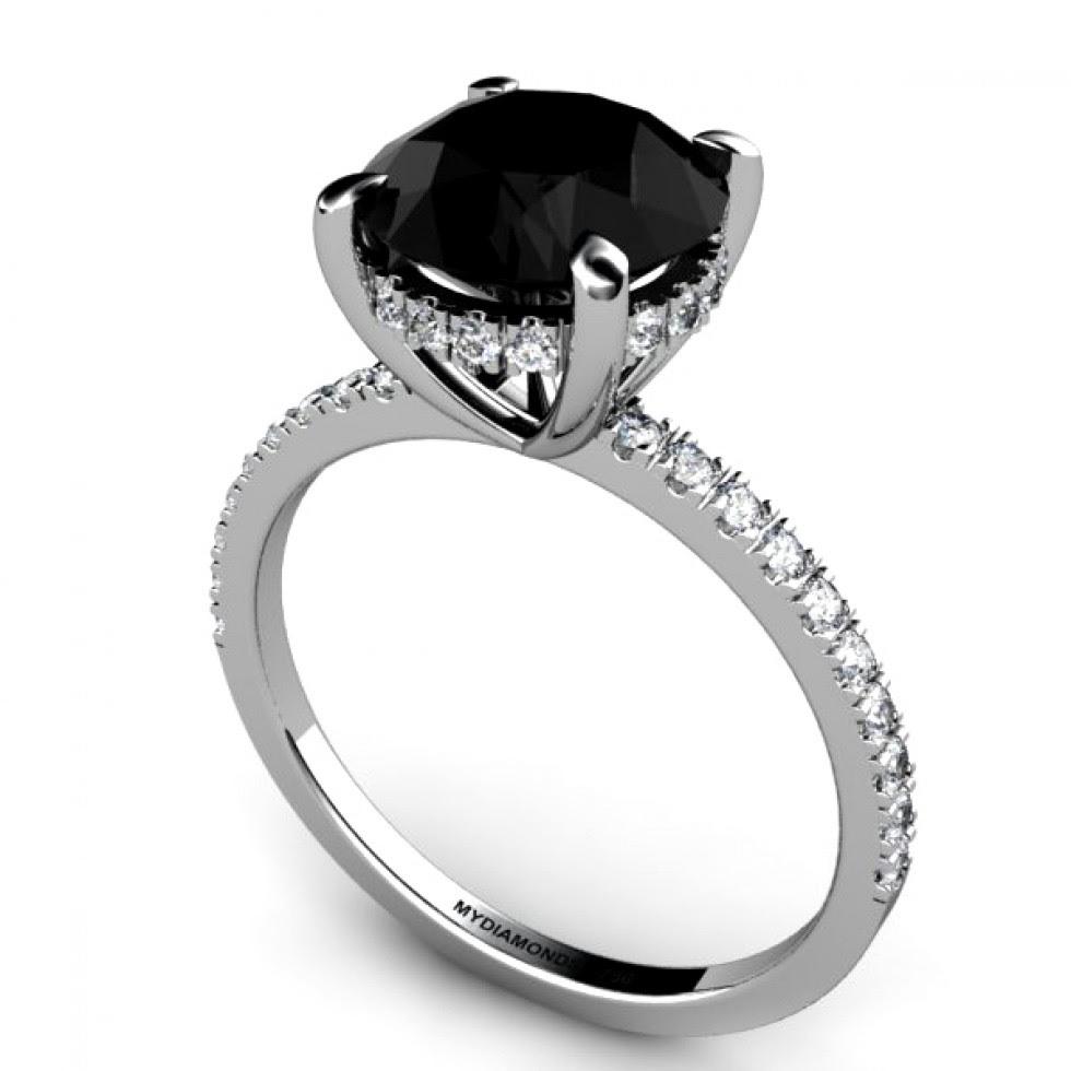 All Black Wedding Rings | Gold Wedding Rings Black Diamond Engagement Rings For Women