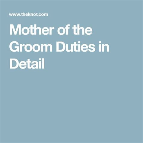 Official Rundown of Mother of the Groom Duties   Mothers