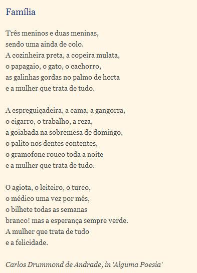 Poesia Família Escola E Verso Mensagens Cultura Mix