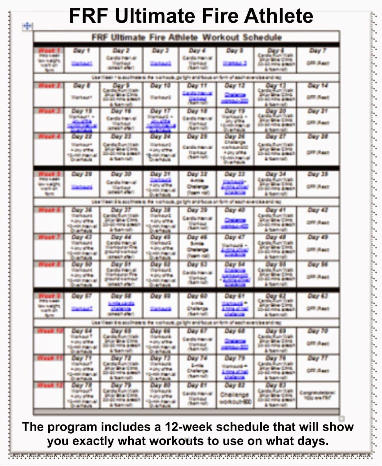 12 Week Workout Program Pdf