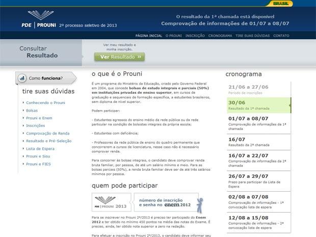 MEC divulga lista da primeira chamada do Prouni neste domingo (30) (Foto: Reprodução)