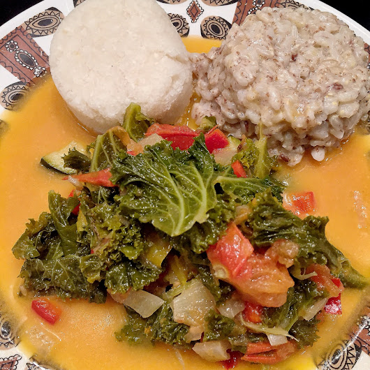 Kenyan Dinner in London: Coconut Greens Stew