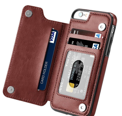 iPhone X, 8 Plus, 8, 7 Plus, 7, 6/S Plus, 6/S - Smart Dual Fold Wallet Cardholder Case in 3 Colors