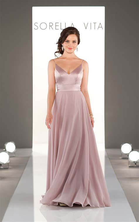 Mixed Fabric Bridesmaid Dress   Sorella Vita Bridesmaid