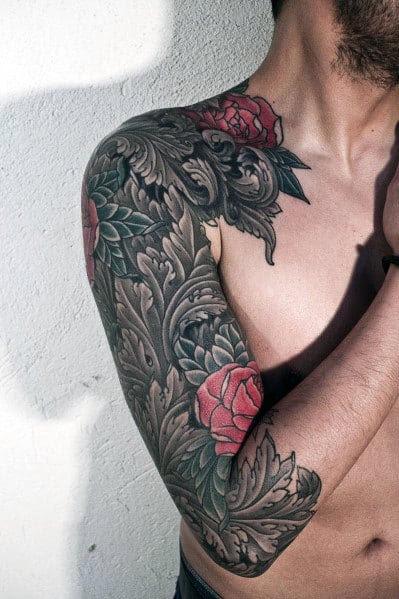Tatuagens tribais de rosas para homens