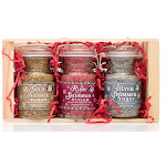 Pepper Creek Farms CRT-009 Gold Ruby &Silver Shimmer Sugars Gift Crate - Pack of 6
