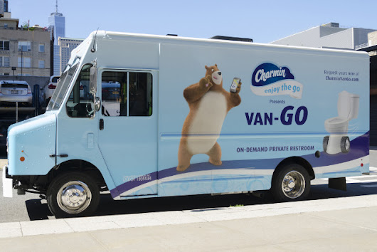 Charmin Van-GO is an on-demand mobile toilet service -- the Uber of poop and pee