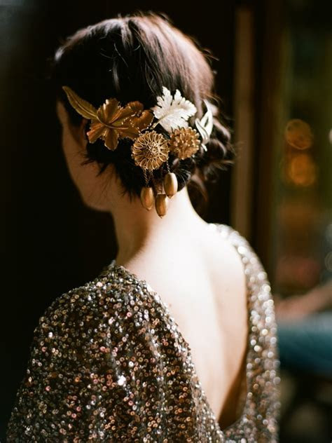 Wedding hair accessories   nothing sparkly in sight