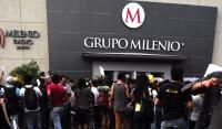 Protesta de estudiantes contra Milenio en Guadalajara. Foto: Rafael del Río.