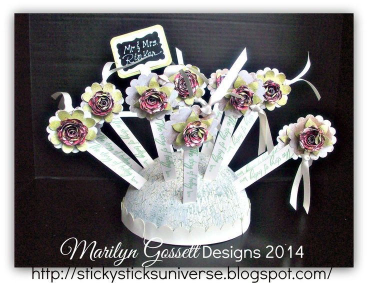 Shabby Chic Bookmark Favors (can also be used as plant decor) www.marilyngossett.blogspot.com