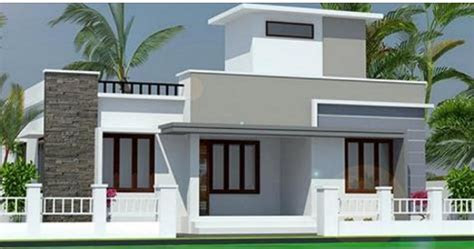 square feet single floor modern home design