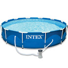 """Intex 12' x 30"""" Metal Frame Above Ground Swimming Pool with Filter Pump"""