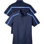 Men's Silk Feel Performance Colorblock Striped Polo Shirt