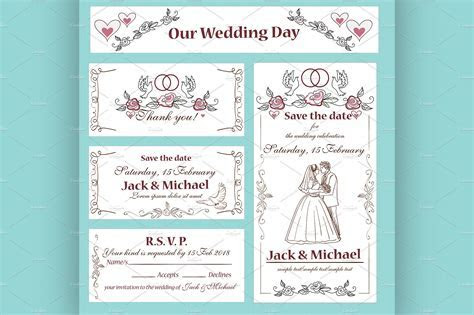 Wedding invitation, thank you card ~ Flyer Templates