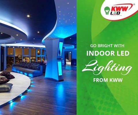 Go bright with indoor LED lighting from KWW