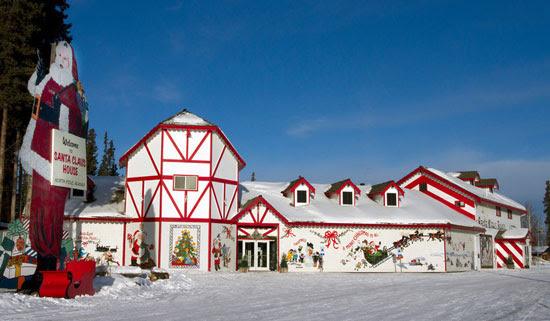 Santa Clause House and Santa Clause in North Pole, Alaska. Photo by Santa Clause House