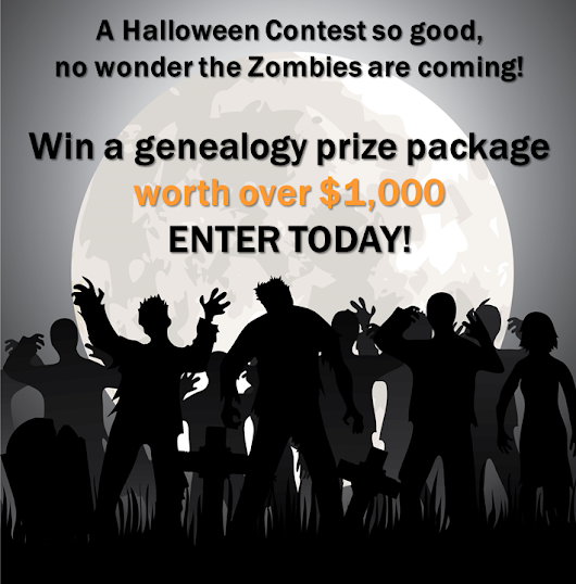 Halloween Giveaway – Win a $1,000 Genealogy Bundle