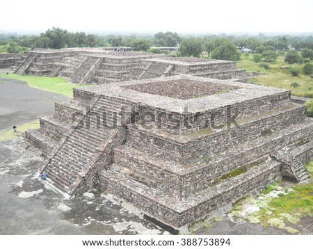 Teotihuacan. Small Pyramids. A Part Of Avenue Of The Dead. Mexico Стоковые фотографии 388753894 : Shutterstock